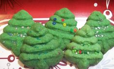 Almond Christmas Tree Cookies