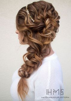 Wedding hairstyle idea; Featured Hairstyle: Hair and Makeup by Step