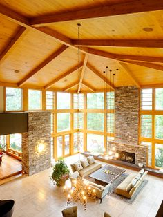 Gorgeous vaulted ceilings make this #Aspen, CO #cabin #home a catch, wouldn't you agree?