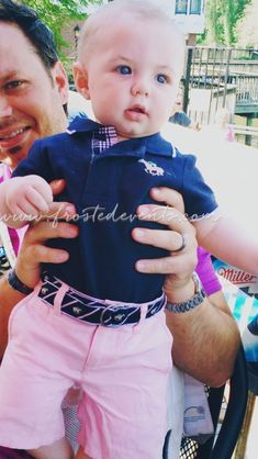Brady in his pink and navy derby outfit - Janie and Jack   baby boy style,  cute toddler boys outfits, preppy boy clothes, Easter outfits for boys