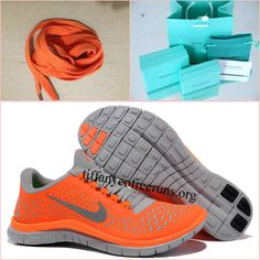 reputable site ceacd 58255 Womens Nike Free 3.0 V4 Total Orange Reflective Silver Pro Platinum Shoes