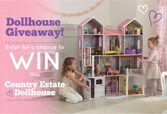 Enter for a Chance to WIN this Country Estate Dollhouse