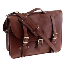 Leather satchel. Just need room for a sketch pad and laptop... I'm a low-maintenance kind of woman.