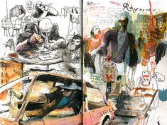 Drawings, illustrations and comics by Sam Vanallemeersch Sketchbook Drawings, Artist Sketchbook, Art Drawings, Sketches, Artist Journal, Drawing Artist, Ap 12, Sketchbook Inspiration, Urban Sketching