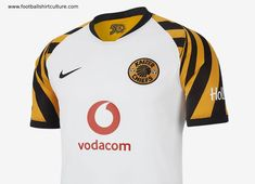 Kaizer Chiefs and Nike have unveiled the Away football kit. In contrast to the home kit, the away jersey is crisp white and embellished with the Sports Jersey Design, Football Design, Football Kits, Nike Football, Kaizer Chiefs, Nike Store, White Jersey, Formal Shoes, Soccer