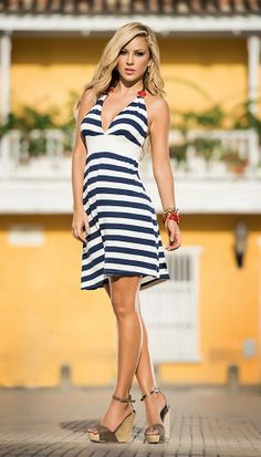Set sail for a day of fun in the sun in this sexy twist on nautical wear.  http://www.divashq.com/67-all-clubwear#/categories-casual_dresses