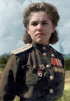 Soviet Air Force officer, Hero of the Soviet Union Rufina Gasheva (flew 848 night missions as navigator in a