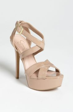 4045d079e566 Jessica Simpson Blairee Sandal in Beige (nude patent)
