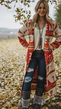 3e4c35e3bd Love the ankle length jacket/sweater Country Girl Clothing, Country  Fashion, Boho Fashion