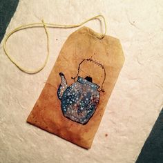 363 days of tea. Day 167. #recycled #teabag #art