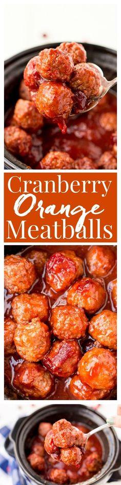 Cranberry Orange Meatballs