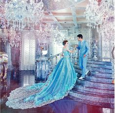 Amethyst Bridals - Custom Teal Blue Ball Gown Long Train Crystal Sleeveless Wedding Dress, $725.00 (http://www.amethystbridals.com/custom-teal-blue-ball-gown-long-train-crystal-sleeveless-wedding-dress/)