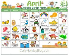 april holidays calendar free download