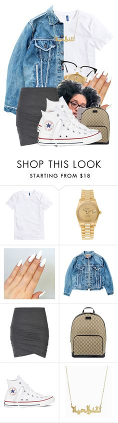 """Baby Are You Home - Lil Uzi Vert"" by aniahrhichkhidd ❤ liked on Polyvore featuring Rolex, Levi's, ONLY, Gucci, Converse and GlassesUSA"