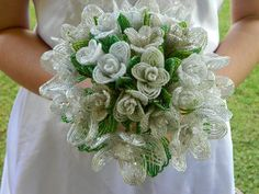 Bridal Red Roses Wedding Bouquet , French Beaded Flowers - Google Search