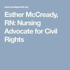 Esther McCready, RN: Nursing Advocate for Civil Rights