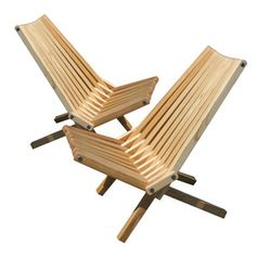 ChairX36 Oiled Set of 2, now featured on Fab.