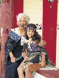 Maori grandmother with her granddaughter. The Maori culture is so fascinating!