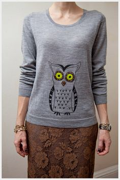 DIY: owl sweater