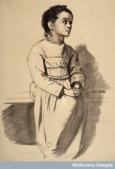 Sketch of a women with melancholia
