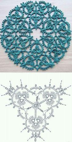 Irish Crochet Patterns, Crochet Flower Patterns, Tatting Patterns, Crochet Diagram, Crochet Flowers, Irish Crochet Charts, Free Doily Patterns, Irish Crochet Tutorial, Crocheting Patterns