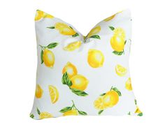 Lemon Throw Pillows Decorative Pillow Cover by PillowThrowDecor, $34.00
