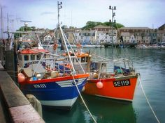 """""""A Sunny Day at Weymouth Harbour"""" Weymouth Harbour, Sunny Days, Past, Landscapes, British, England, Memories, Twitter, Places"""