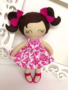 Handmade Dolls Fabric Dolls Soft Dolll Cloth by SewManyPretties, $40.00