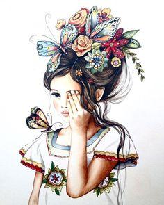 Весна девочка арт