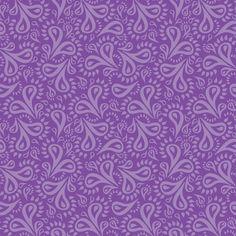 Purple Paisley Flowers fabric by robyriker on Spoonflower - custom fabric