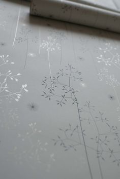 Meadow Grass Wallpaper in Blue & Silver – Hannah Nunn