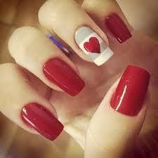 red with grey and white stripe and red heart nail art design Red Nail Art, Red Nails, Love Nails, Pastel Nails, Acrylic Nails, Color Nails, Red Art, Gorgeous Nails, Pretty Nails