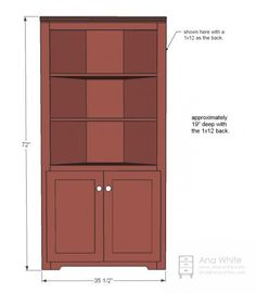 Corner Cupboard   Do It Yourself Home Projects By Ana White