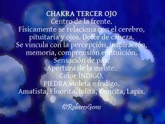 Chakra Tercer Ojo. Color Índigo.
