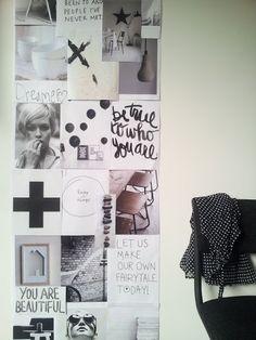 Leuk idee voor aan de muur, allemaal foto's en een aantal spreuken