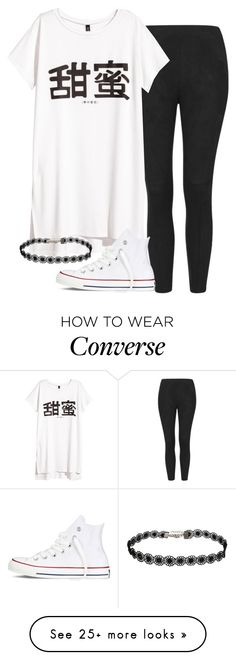 """""""jade insp - school"""" by littlemixmakeup on Polyvore featuring Topshop, H&M and Converse"""