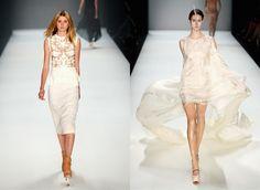 At Berlin Fashion Week, A Few Feathers, A Lot Of Leather - Kaviar Gauche (left); Dawid Tomaszewski (right)