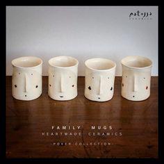 F A M I L Y   M U G S * p o k e r   c o l l e c t i o n * by #Patossa #ceramics #pottery #ceramica #poker #family #mug #mugs #taza #tazas #familia #handmade #heartmade #soulmade #barcelonacreativa #jocreo #barcelona #cartas #cards