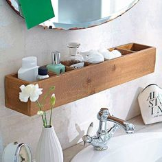 Home Decorating Ideas On a Budget Badezimmer-Regal-Ideen Home Decorating Ideas On a Budget Source : Badezimmer-Regal-Ideen by Share Small Bathroom Storage, Bathroom Organisation, Small Bathroom Ideas, Bathroom Designs, Toilet Storage, Storage Spaces, Small Storage, Diy Storage, Space Saving Storage