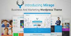 Download and review of MIRAGE - Business And Marketing WordPress Theme, one of the best Themeforest Corporative themes