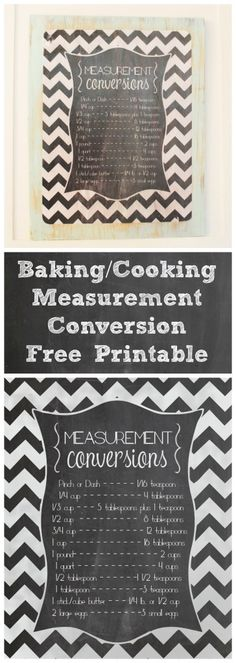 FREE Measurement Conversion Chart Printable  - www.classyclutter.net