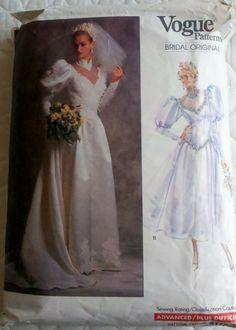 1980s Vintage Sewing Pattern Women's Wedding by Sutlerssundries, $14.95