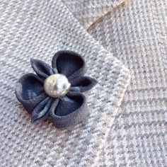 Lapel Pins Mens Lapel Pin Flower Lapel Pin Kanzashi Brooch Gray Lapel Flower Silk Boutonniere Wedding Party Gift For Him Custom Suit Pin by exquisitelapel on Etsy https://www.etsy.com/listing/527560715/lapel-pins-mens-lapel-pin-flower-lapel