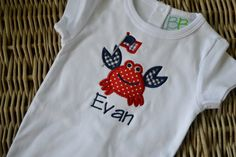 4th of July Applique Crab Boy or Girl Tshirt by thelittlesweetpeas, $21.00