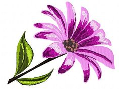 Open Daisy Machine Embroidery Design2101 by Letzrock on Etsy, $3.50