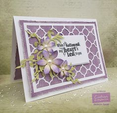 Card made using Crafter's Companion Sara Signature Floral Delight collection. Made by Liz Walker