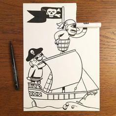 Superbes dessins qui prennent vie une fois la feuille pliée by HuskMitNavn