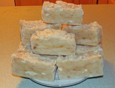 OK so I am on a soap making frenzy. I looked up hot process soap and found this yummy looking recipe. This soap has only 4 ingredients in the basic soap and then you add honey and oatmeal. Kaleb'...
