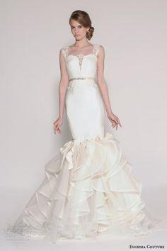 tarik ediz white 2015 safir sleeveless wedding dress tiered ball gown skirt