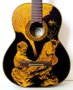 A Song To Nature by Patrick Fisher Sharpie on Sigma CS guitar